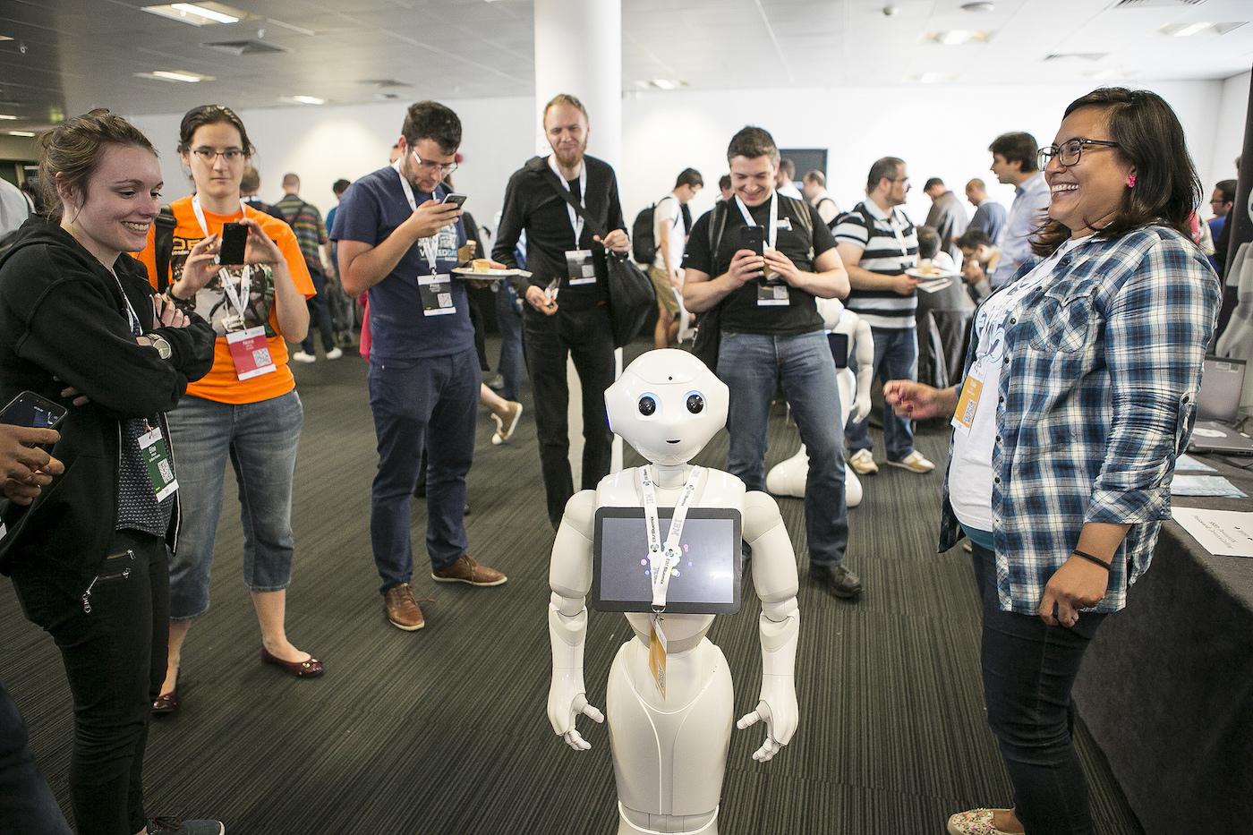 pepper the robot at devoxx